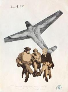 Bruno Munari fotomontaggio anni '30  ...hanno inventato anche questa, il mondo è impazzito...  ...they have even invented this, the world has gone mad...