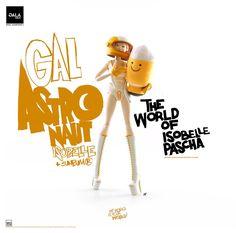 "ThreeA x Ashley Wood - 12"" Girl Astronaut Isobelle and Sunbum the Rocket"