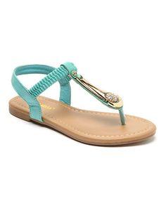 Loving this Mint Bria T-Strap Sandal on #zulily! #zulilyfinds