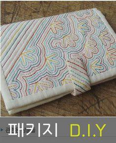 Quilted embroidered wallet. 우리규방 - 전통디자인 수공예품 쇼핑몰, 규방공예/보자기, 부자재,패키지판매