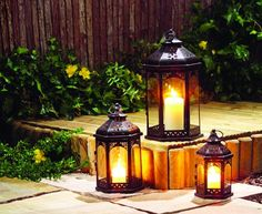 Victorian and Gothic themed lamps can be ideal for home garden. They can look magnificent on floors or pathways in the outdoors. You can also utilize them as table accents and wall décor item in the garden. Such lighting options are incredible choice for traditional home design.