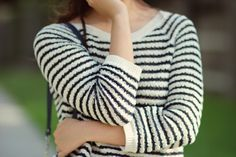 subtly nautical ootd- loft sweater