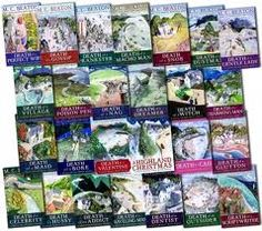 Agatha Raisin Series by M.C. Beaton.. have read them all