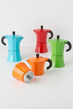 Color Pop Red Coffee Pot Retro Vtg Inspired