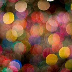 looks like christmas lights out of focus. i think i might actually have a photo like this somewhere