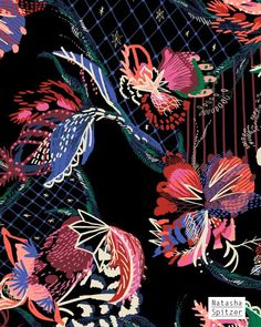 Floral Print for Bedding - Natasha Spitzer www.natashaspitzer.com