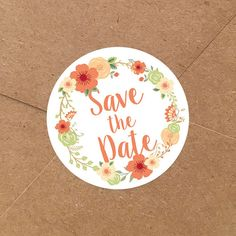 Aren't these the cutest?? #SavetheDate #Etsy #Floral #Stickers