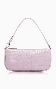 Rachel Croco Embossed Leather Bag by BY FAR for Preorder on Moda Operandi Cheap Purses, Cheap Bags, Cute Purses, Pink Purses, Trendy Purses, Unique Purses, Brown Purses, Purses Boho, Fabric Purses