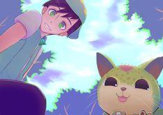 Boboiboy Daun dan Cattus by Boboiboy Anime, Anime Art, Boboiboy Galaxy, Cute Cafe, Cartoon Art, All Art, Gentleman, Fighter Jets, Pikachu