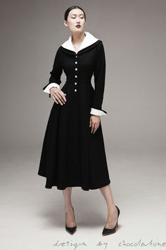 Aliexpress.com : Buy winter women vintage 50s long sleeve swing rockabilly midi wool coat pinup female jacket cashmere roupas plus size 4xl feminina from Reliable coated candy suppliers on Vintage lady wholesale. | Alibaba Group