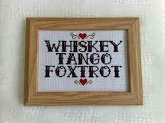 Whiskey Tango Foxtrot cross-stitch