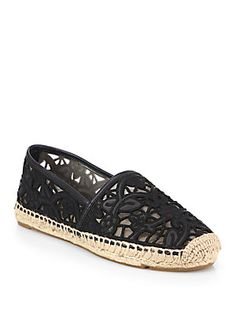 lucia leather lace espadrilles / tory burch