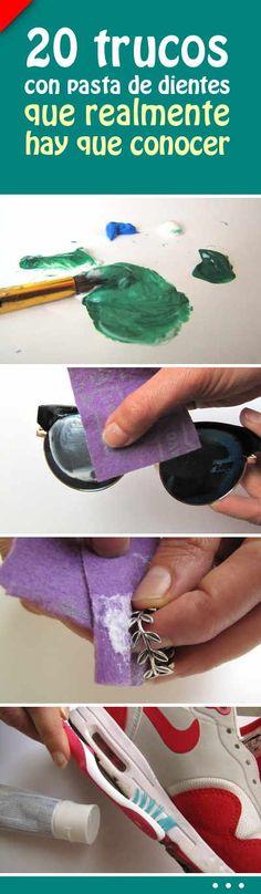 20 trucos con pasta de dientes que realmente hay que conocer #pasta #dientes #dental #tips #trucos #limpiar #hogar #casa