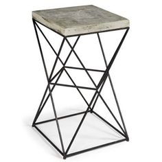 Isosceles Table - Clayton Gray Home 16sq 26.5h Marble Top; Metal-Frame Base