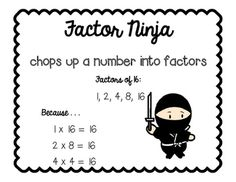 Over the Rainbow Factors of a Number 4.OA.4 Worksheet