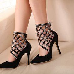 Zircon stiletto shoes