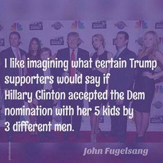 Funny Quotes About Donald Trump by Comedians and Celebrities: John Fugelsang on Double Standards