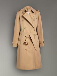 The Long Kensington Heritage Trench Coat in Honey - Women | Burberry Australia - cell image 3