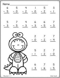 Halloween Addition and Subtraction Worksheets Numbers 0 - 10 - Modern Design Activities For 1st Graders, First Grade Math Worksheets, Preschool Worksheets, Addition And Subtraction Worksheets, Math Subtraction, Math Addition, English Worksheets For Kids, Preschool Writing, Homeschool Math