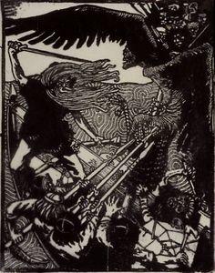 akseli gallen-kallela kalevala - Google Search Post Impressionism, Les Oeuvres, Printmaking, Illustrators, Print Patterns, Art Nouveau, Cool Art, At Least, Illustration Art