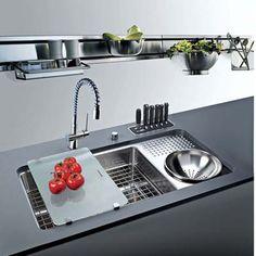 Trendy Kitchen Remodel Diy Budget Home Decor Ideas Best Kitchen Sinks, Kitchen Sink Faucets, Kitchen And Bath, New Kitchen, Cool Kitchens, Kitchen Ideas, Kitchen Cabinets, Sink With Drainboard, Franke Kitchen Sinks