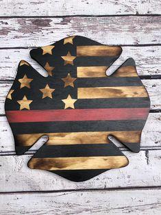 Firefighter Cross, Firefighter Home Decor, Firefighter Gifts, American Flag Blanket, Wooden American Flag, American Flag Wood, Wood Flag, Flag Signs, Maltese Cross