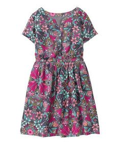 Gymboree Floral Twill Shirt Dress