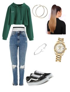 """DOUBLE"" by haileymagana on Polyvore featuring Topshop, Vans, Rolex and Alex and Ani"