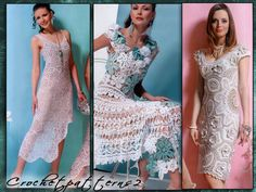 ebook - crochet patterns. Journal mod 521. Women's crochet blouses, tops, dresses, skirt, jacket and cardigan, irish lace..