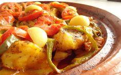 Tajine van kabeljauw met groenten - Recept