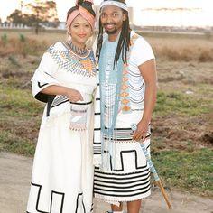 African Wedding Attire, African Attire, African Weddings, Xhosa Attire, African Wear Dresses, African Traditional Dresses, African Fashion, African Style, Chic Dress