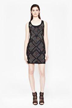 Confetti Grid Sequin Dress