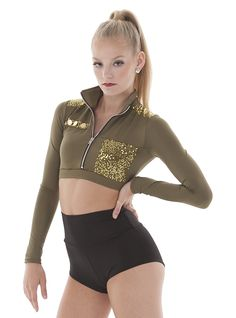 Major. Military dance costume. Army Halloween Costume top.