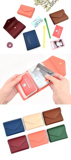 If you need to organize many different cards, check out the Colorful Button Card Book! It has not only the classy and clean appearance but also several functional features to securely store your cards without needing to worry about losing them!