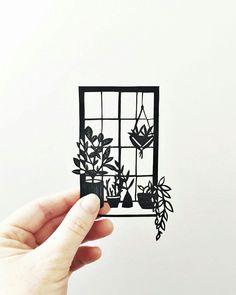 Botanical Papercuts by Jessica Baldry. Paper Illustration, Botanical Illustration, Illustrations, 3d Paper Art, Paper Cutting Art, Cut Paper, Quilled Roses, Paper Plants, 3d Pen