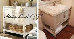 DIY Idea:   Create Your Own Pottery Barn Inspired Vanity   DIY Diva