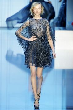 Elie Saab Fall 2011 Couture Fashion Show - Siri Tollerød
