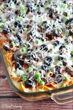 Easy Pizza Noodle Casserole