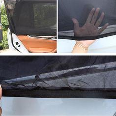Colorful Skulls 2 Pcs Auto Foldable Front Rear Side Window Sunshade Mesh