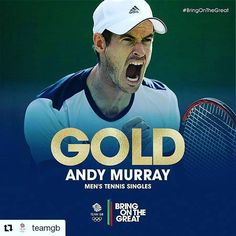#Repost @teamgb with @repostapp ・・・ WE CAN'T BELIEVE IT! He's done it! #Gold for @andymurray! #BringOnTheGreat #Tennis #Rio2016 #teamgb #olympicgames