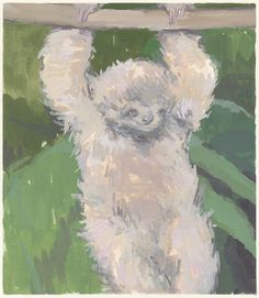 sloth art original painting by michellefarro on Etsy
