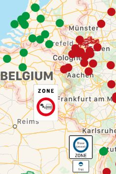 TOP 10 – The largest environmental zones in Europe - An Austrian zone with km² lies just ahead of France Frankfurt, Green Zone, Exit Sign, Environment, Europe, France, Top, Travel, Karlsruhe