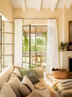 This newly designed home in Spain features bright, inviting interior spaces infused with warmth and personality, designed by Lizarriturry Tuneu Architects. Small Curtains, New Mexico Homes, Serene Bedroom, Spanish House, Mediterranean Homes, Living Room Remodel, Small Rooms, Eclectic Decor, House Design