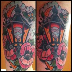 lantern tattoo done by annie frenzel