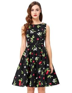 Belle Poque Womens Summer Dress 2017 Floral Retro Vintage Casual Party Robe Rockabilly  Dresses Plus Size Vestidos mujer 9816a9b96ca3