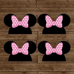 Minnie Mouse Ears Treat Bag Toppers - DIY Printable - Minnie Mouse Birthday Party - INSTANT DOWNLOAD on Etsy, $4.00