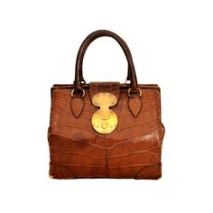 Ralph Lauren Brown Alligator Handbag. All time classic with a crisp white shirt, jeans, and loafers