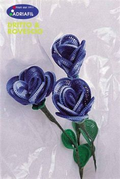 ❧Pretty Flowers,  Crochet designs, diagrams, how to's and ideas   Blue Rose