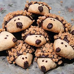 Baby Hedgehog Cookies-Made with Chai Tea shortbread cookies-Delicious