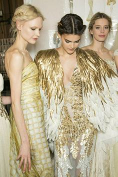 backstage at the Zuhair Murad Couture Spring 2013 show